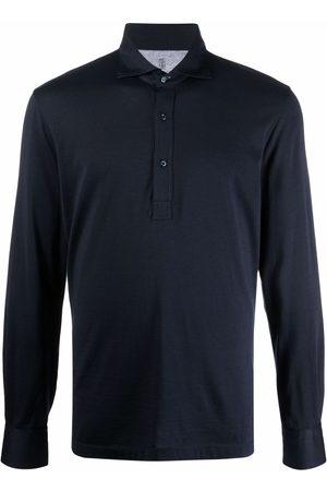 Brunello Cucinelli Men Polo Shirts - Longsleeved polo shirt