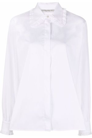 Alessandra Rich Lace-trimmed collar shirt