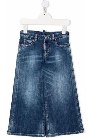 Dsquared2 Boys Wide Leg - Light-wash wide leg jeans