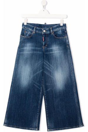 Dsquared2 Wide Leg - TEEN light-wash wide leg jeans