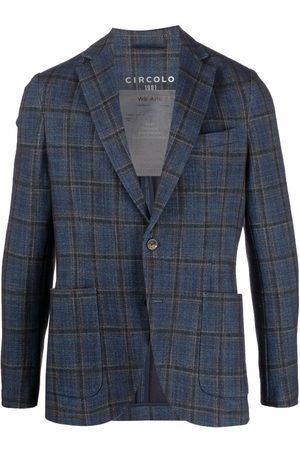 Circolo Check-print single-breasted blazer