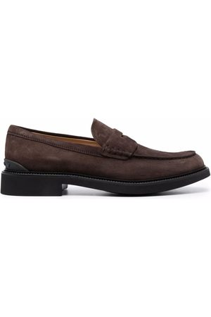 Tod's Almond-toe suede loafers