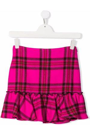 PHILOSOPHY DI LORENZO SERAFINI TEEN tartan check print skirt