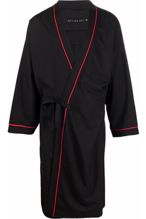 Alchemy Men Bathrobes - Piped-trim robe jacket