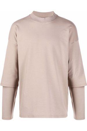 Alchemy T-shirts - Layered cotton T-Shirt - Neutrals