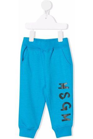 Msgm Baby Sweatpants - Logo-print track pants