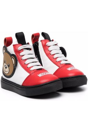 Moschino Boys Ankle Boots - Teddy Bear lace-up ankle boots