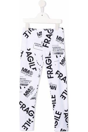 MM6 KIDS Girls Leggings - Fragile-print stretch-cotton leggings