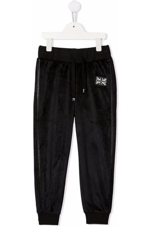 John Richmond Junior Boys Sweatpants - Logo patch track pants
