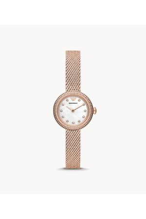 Womens Emporio Armani Women's Two-Hand -Tone Stainless Steel Mesh Watch