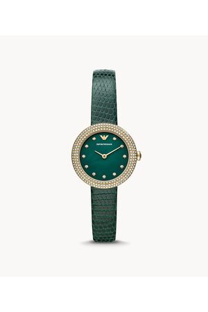 Womens Women Watches - Emporio Armani Women's Two-Hand Leather Watch