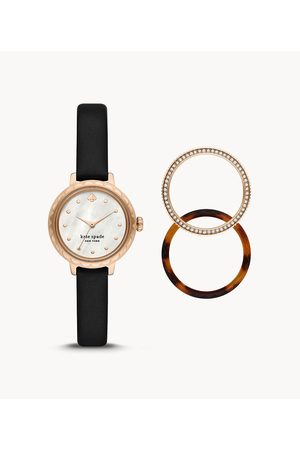 Womens Kate Spade New York Women's Morningside Leather Watch And Topring Set