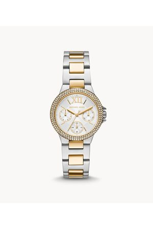 Womens Michael Kors Women's Camille Multifunction Two-Tone Stainless Steel Watch - / Silver