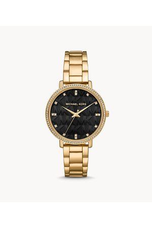 Womens Michael Kors Women's Pyper Three-Hand -Tone Alloy Watch