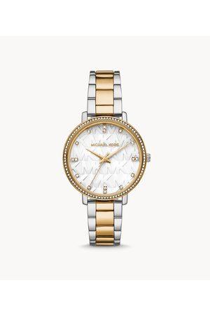 Womens Michael Kors Women's Pyper Three-Hand Two-Tone Alloy Watch - / Silver