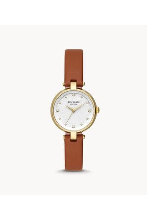 Womens Kate Spade New York Women's Annadale Luggage Leather Watch