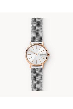 Mens Women Watches - Skagen Women's Signatur Two-Hand -Tone Stainless Steel Mesh Watch
