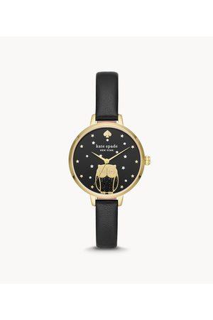 Womens Kate Spade New York Women's Metro Owl Leather Watch