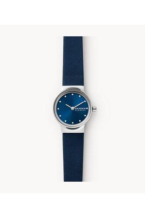 Womens Women Watches - Skagen Women's Freja Two-Hand Blue Eco Leather Watch