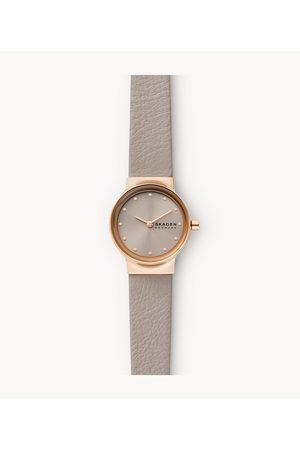 Womens Skagen Women's Freja Two-Hand Eco Leather Watch