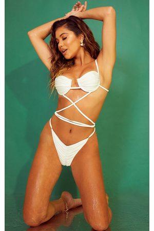 PRETTYLITTLETHING Women Bikinis - Underwired Wrap Around Cupped Bikini Top