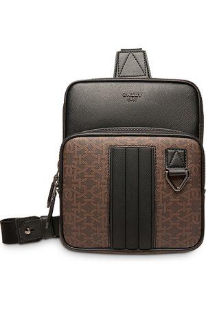 Bally Men Laptop Bags - Logo Print Crossbody Backpack