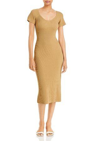LINE & DOT Melissa Ribbed Knit Midi Dress