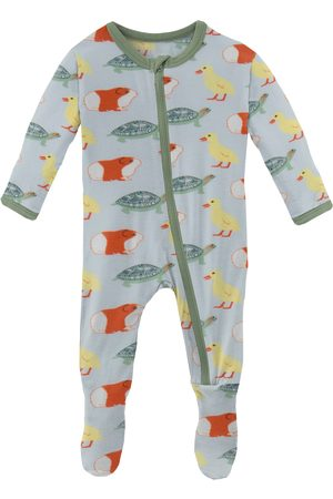 Kickee Pants Infant Boy's Classic Pets Fitted Zip Footie Pajamas