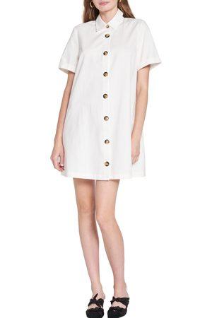 En Saison Women's Cotton Poplin Mini Shirtdress