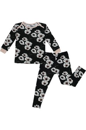 Peregrine Infant Girl's Flowers Fitted Two-Piece Pajamas