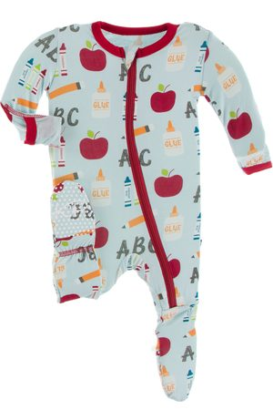 Kickee Pants Infant Boy's First Day Of School Fitted One-Piece Pajamas