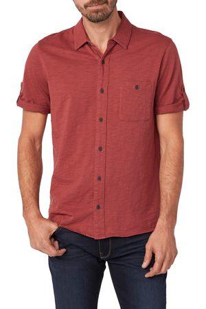 Paige Men's Brayden Short Sleeve Cotton Jersey Button-Up Shirt