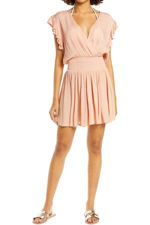 Delan Women's Smocked Cover-Up Dress
