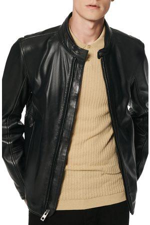 Andrew Marc Men's Hobe Leather Racer Jacket