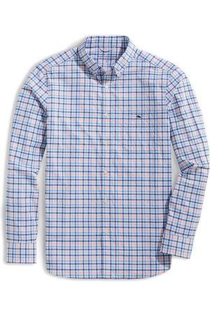 Vineyard Vines Men's On-The-Go Check Button-Down Performance Shirt