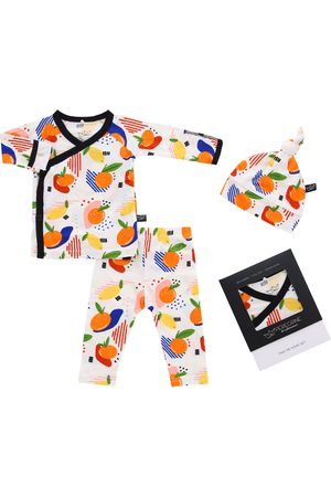 Peregrine Infant Girl's Citrus Fitted Two-Piece Pajamas