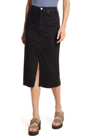 Treasure & Bond Women's High Waist Front Slit Denim Skirt
