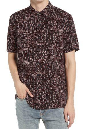 Topman Men's Gator Short Sleeve Button-Up Shirt