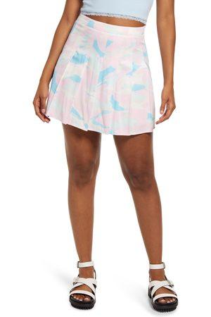 BP. Women's Plaid Pleated Miniskirt