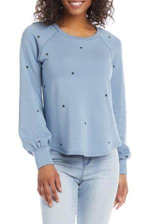Karen Kane Women's Bishop Sleeve Star Print Fleece Sweatshirt