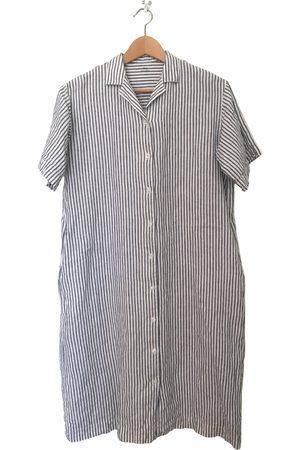 MUJI Women Midi Dresses - Linen mid-length dress