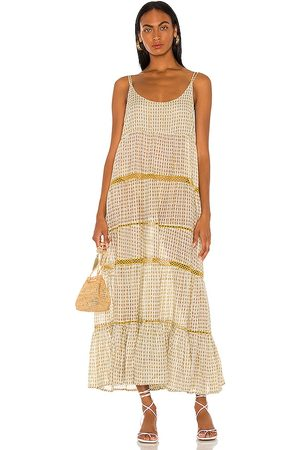 Free People Women Maxi Dresses - Midnight Dance Maxi Dress in Olive,Mustard.