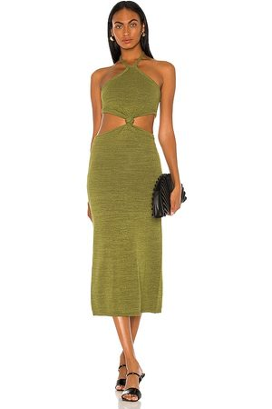 Cult Gaia Cameron Knit Dress in Olive.