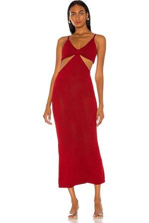 Cult Gaia Serita Knit Dress in Red.