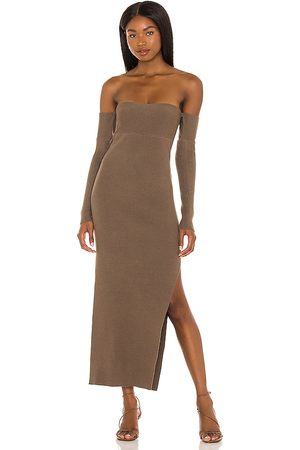 House of Harlow Women Strapless Dresses - X REVOLVE Hazel Off Shoulder Dress in Taupe.