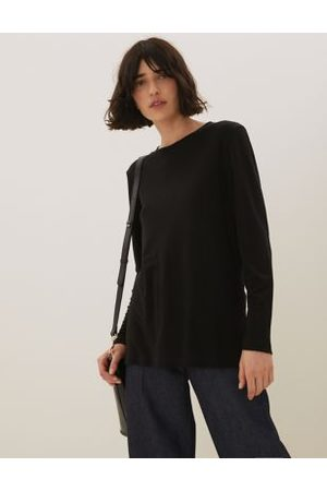 Autograph Women Long sleeves - Pure Tencel™ Crew Neck Long Sleeve Top