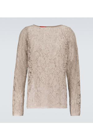 Gucci Men Long sleeves - Long-sleeved lace shirt