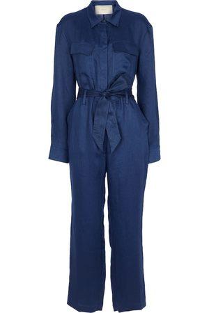 ASCENO Antwerp linen jumpsuit