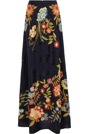 Etro High-rise floral jacquard maxi skirt