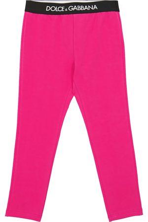 Dolce & Gabbana Baby Leggings - Logo stretch-cotton leggings